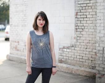 Fireworks Muscle Tee, Sparkler Tshirt Women, Clothing Gift for Her, Bachelorette Party Shirt Wedding Gift Celebration Shirt