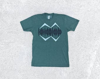 Camping T-Shirt, Wanderlust Adventure Shirt, Fathers Day Clothing Gift, Made in USA Shirt, BlackbirdSupply Shirt, Screen Print T Shirt