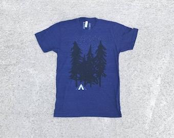 Hiking Tshirt, Adventure Shirt, Wanderlust Clothing Gift, Travel Gift, BlackbirdSupply Shirt, Unisex T-Shirt, Screen Print T Shirt