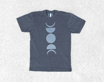 Moon Phase T Shirt, BlackbirdSupply Shirt, Celestial Outdoor Gift, Clothing Gift, Screen Print Shirt, Unisex Tshirt