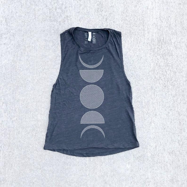 52dcc6af92fdbd Moon Phase Shirt Flowy Boho Tank Top Festival Clothing