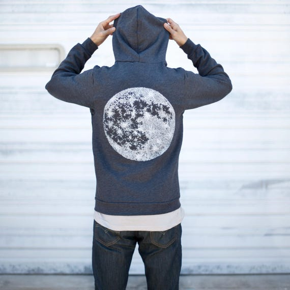 Up for Unisex Men Gift Moon Hoodie Outdoor Hoodie Sweatshirt Shirt Halloween Zip Fleece Zip Autumn Black Sweatshirt Fall Pqw7wCx5X