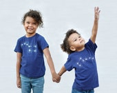 Big Dipper Little Dipper Matching Shirts, Back to School Tee for Kids, Brother Sister Sibling Gift, Celestial Boho T-shirts Graphic Tees
