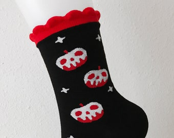 Girls Socks Over Knee Candy Apple Red Lips Winter Stylish For Halloween