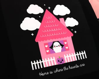Ghost Haunted House Pillow Case