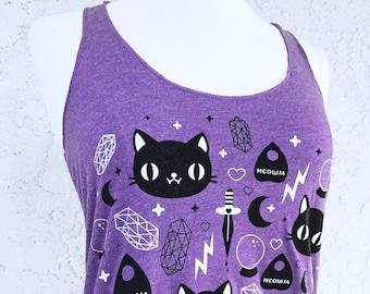 Cat Magic Tank Top - Kitty Shirt - Sizes S, M, L, XL, 2X