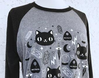 Cat Magic T-Shirt Raglan - Sizes S - 2XL
