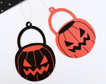 Halloween Candy Pail Air Fresheners - Set of Two