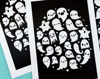 Ghosts Art Print 5 x 7