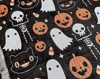 "Halloween Woven Tapestry Blanket 50"" x 60"""