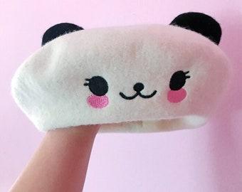 Kawaii Panda Bear Beret With Ears - Beret Hat