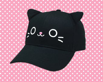 Kawaii Kitty Cat Hat With Ears - Dad Hat Baseball Cap