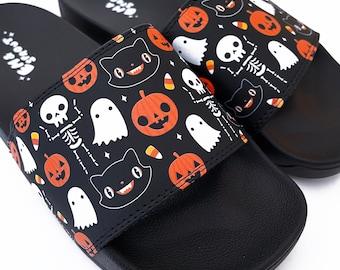 Halloween Slides - Womens Sizes 6-14 Mens 8-12