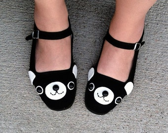 Happy Bear Mary Jane Shoes - (Sizes 5, 6, 7, 8, 9, 10, 11)