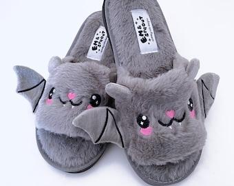Bat Slippers - Womens Sizes 6 - 12