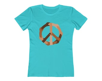 Peace Comes in All Colors - Women's The Boyfriend Tee