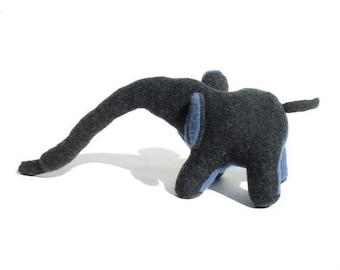 A Grey Lambswool and Cashmere Elephant