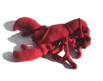 Maine Lobster made of Wool and Cotton