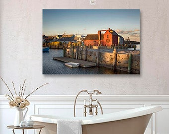 Rockport Photography, Print or Canvas, MA Massachusetts, NE New England Decor, Lobster Shack, Fishing Town, Red, Nautical Art - Motif No. 1