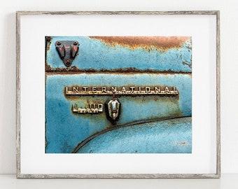 Truck Print or Canvas Wrap, Photography, Vintage International, Classic, Urban Decay, Rustic Print, Farmhouse Art, Antique - International