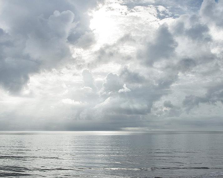 Ocean Photography Print or Canvas, Landscape Photograph, Sunshine, Sunbeams, Zen, Heavenly, Serene Decor, Nautical, Seascape Decor - Shine