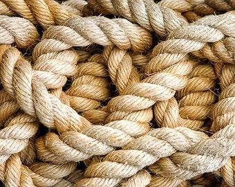 Nautical Photography, Ship Rope Photo, Beach House Decor, Coastal Art, Fishing, Sailing Decor, Maritime, Marine Art - Learning the Ropes