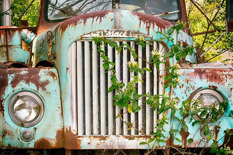 Antique Mack Pickup Truck Photography Print or Canvas image 0