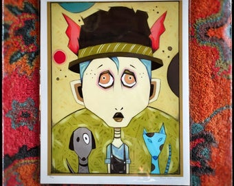 The Boy With The Winged Hat (Giclee Print)
