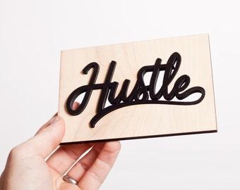 Mini Hustle sign / greeting card
