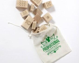 Counting Blocks - Teaching / Proportional Blocks / Montessori / Children / Addition