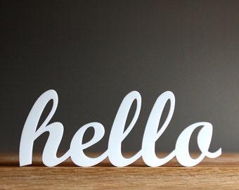 hello acrylic sign for modern office entryway bedroom decor