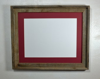 71903bad351 Poster frame reclaimed wood 12x16 cabernet red mat 16x20 without mat fits  an 11x14