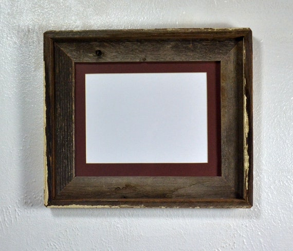 Brown And Gray 8 X 10 Picture Frame With 5 X 7 Or 8 X 6 Mat Etsy