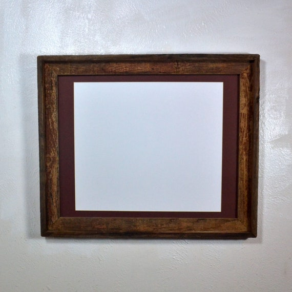 Rustic Wood Frame 12x18 Brown Mat 11x1411x1712x16 Or 12x18 Etsy