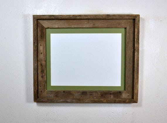 Picture Frame With 9x 12 Sage Green Mat And Glass Fits