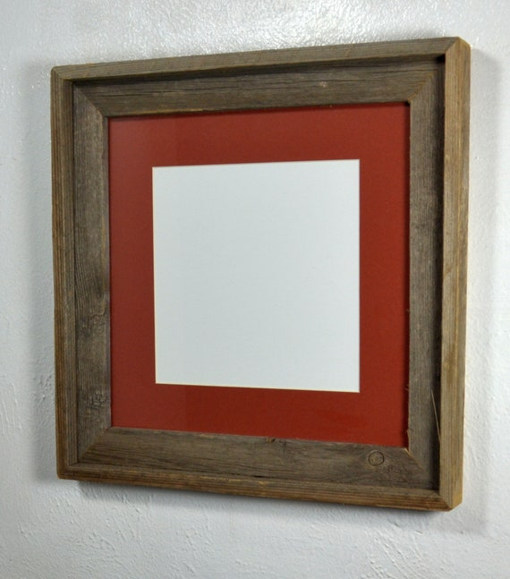 8x8 Mat In 12x12 Eco Friendly Reclaimed Wood Picture Frame Etsy