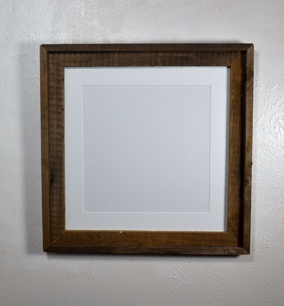 White 12x12 Matted Rustic Picture Frame 16x16 Without Mat 20 Etsy