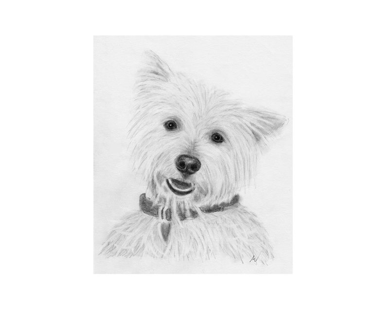 Pet Portrait Pet Memorial Sketch From Photo DIY Printable Dog Drawing Custom Dog Art Pencil Sketch Inklets Personalized Gift
