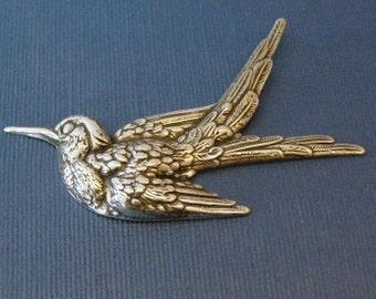 Silver Bird Embellishment 317