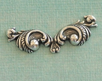 Silver Ornate Finding 2509