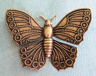 Large Brass Butterfly 2429B