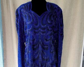La Divina Vintage Beaded Dress