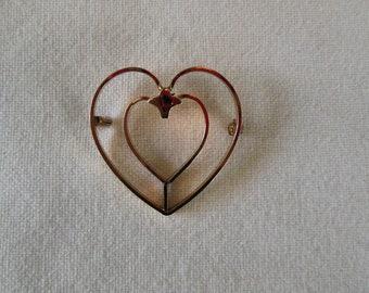 Vintage Van Dell 12K Gold Filled Heart Pin/Brooch