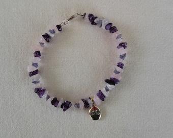 FRIENDS Amethyst and Rose Quartz Bracelet