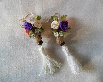 Flower Crown Day of the Dead Earrings