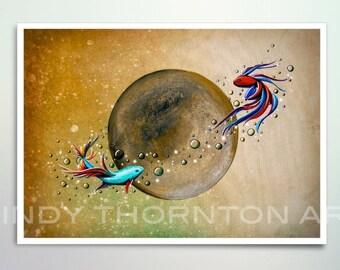 5x7 Fine Art Pearlescent Print - Revolution - think planetary fish