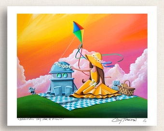 Beautiful Day For A Picnic - Robot and Girl - Limited Edition Signed 8x10 Print (2/10)