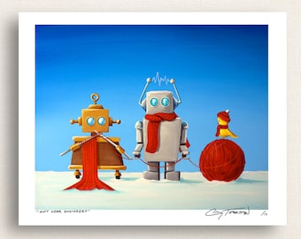 Soft Wear Engineers - cold?  the robots are on it - Signed 8x10 Semi Gloss Print (6/10)