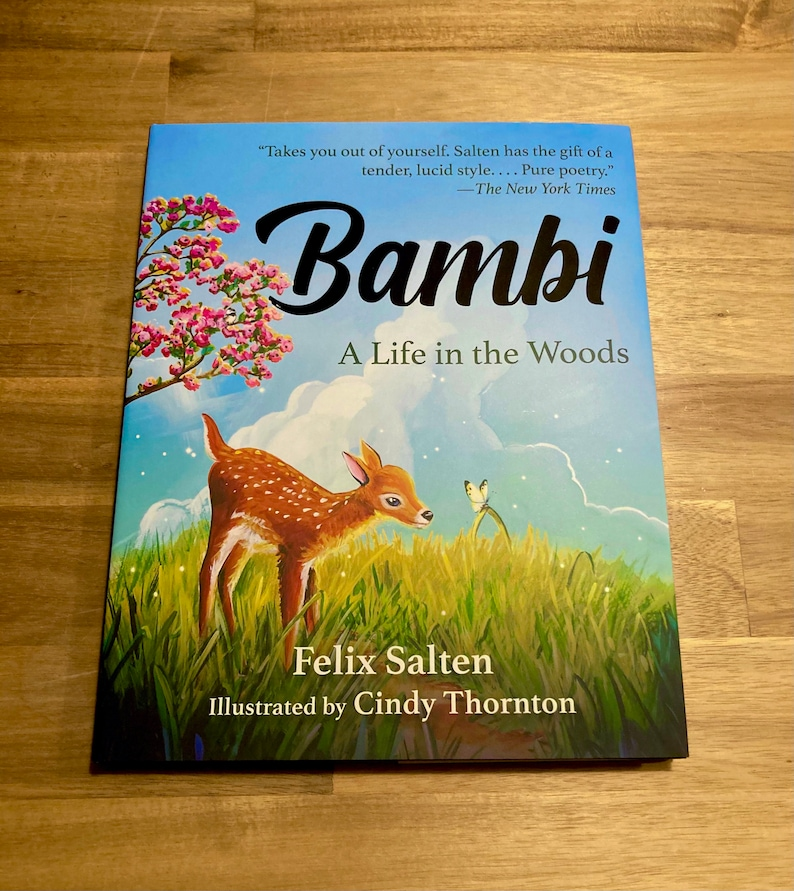 Bambi  Signed Hardcover Children's Book Illustrated by image 0