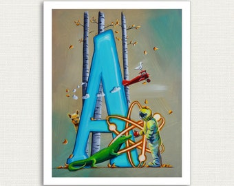 8x10 - A is For - Alphabet Series - Signed Fine Art Open Edition Print